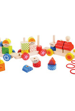 BIGJIGS Toy Build Up Train