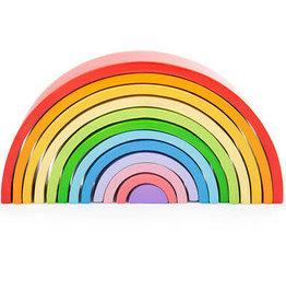 BIGJIGS Toy Wooden Stacking Rainbow - Large