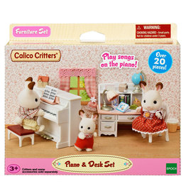 Calico Critters Piano and Desk Set