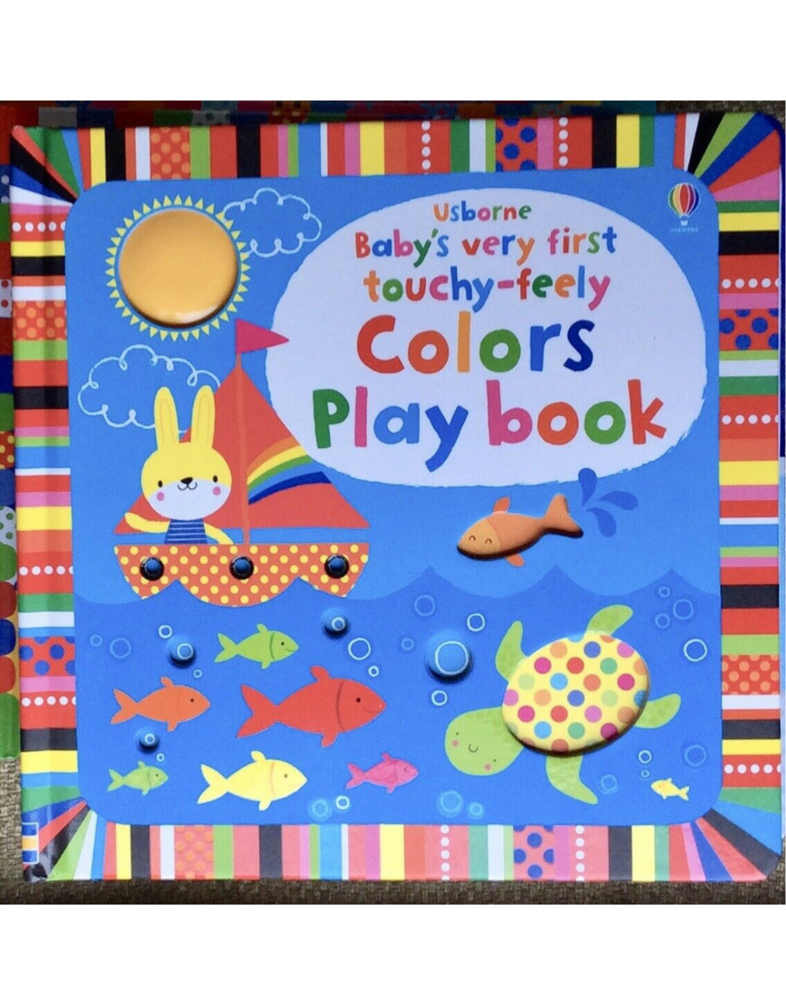 Usborne Touchy-Feely Colors Playbook - Baby's Very First