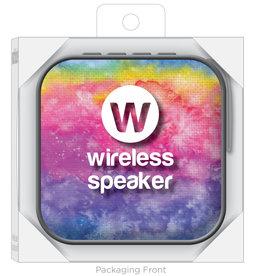 Watchatude Jamm'd Wireless Speaker - Rainbow Tie Dye