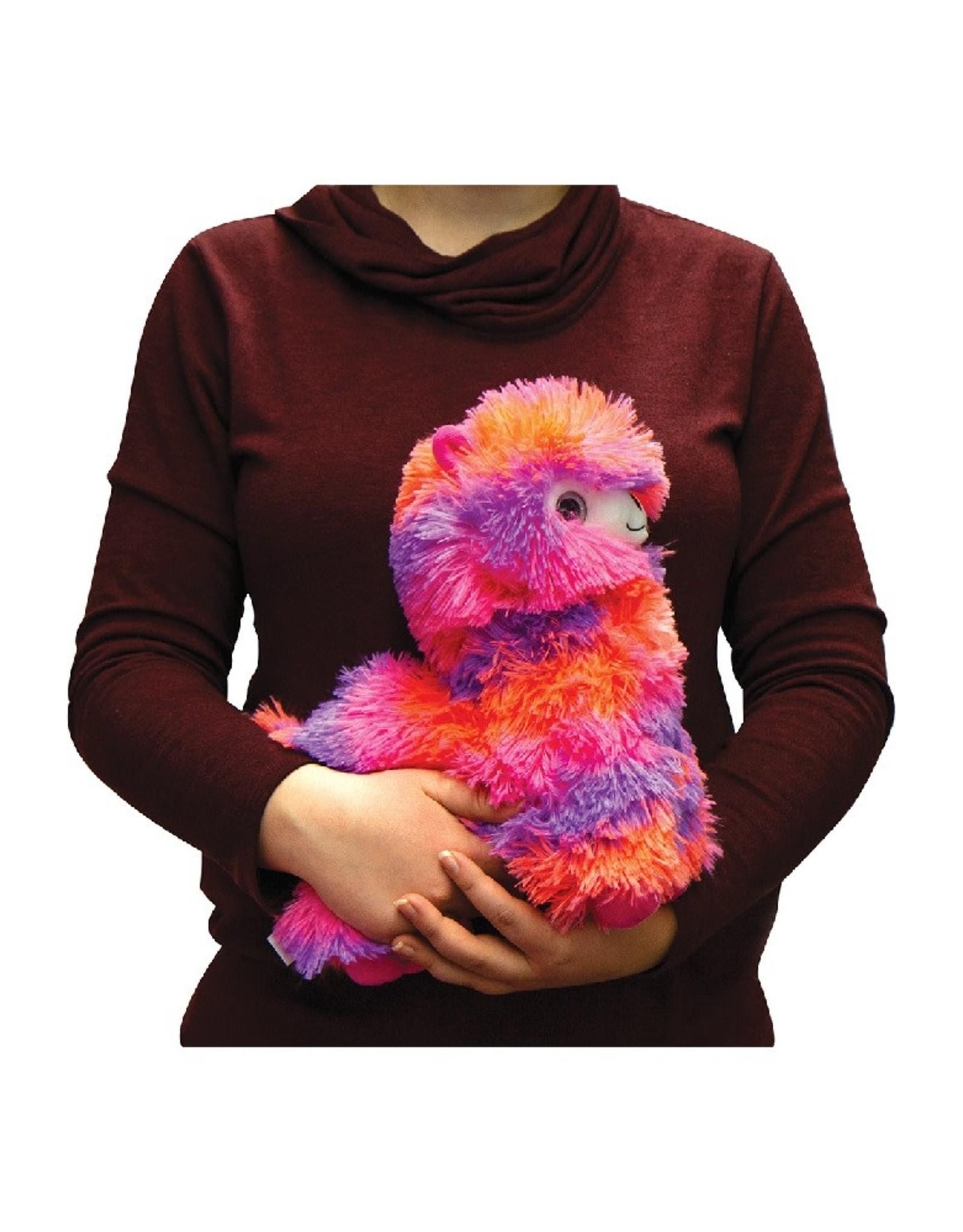 Fashion Angels Alpaca Plush -Small -Neon Pink, Peach & Purple