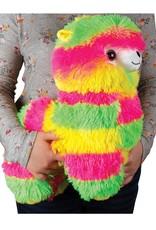 Fashion Angels Alpaca Plush -Large -Neon Yellow, Green & Pink