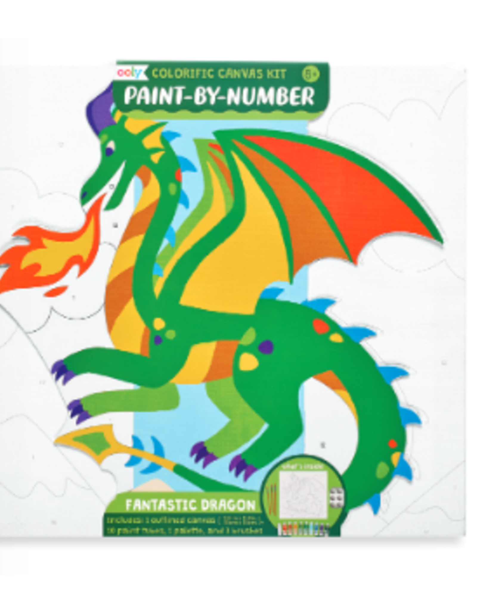 Ooly Colorific Canvas Kit Paint by Number - Fantastic Dragons