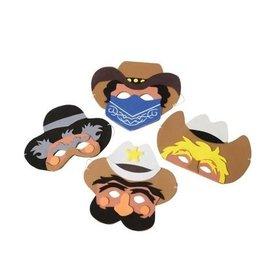 Cowboy Foam Masks