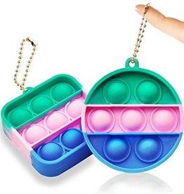 Jeannie's Enterprises Inc Mini Small Pop Fidget Keychains (Assorted)