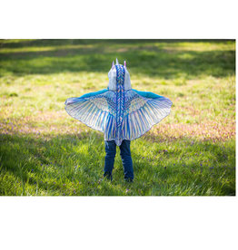 Hooded Unicorn Wings- Rainbow