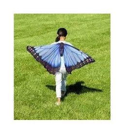 HearthSong Realistic Butterfy Wings - Blue Morpho
