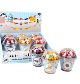 Small Foot Design Threading Bead Candy Cupcakes Display