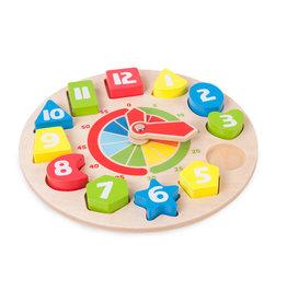Small Foot Design Clock Shape Sorting Game