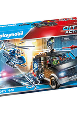 City Action Helicopter Pursuit with Runaway Van