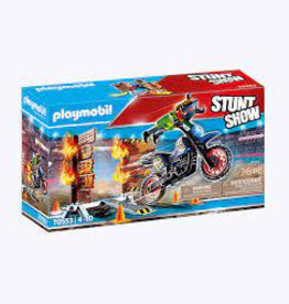 Stunt Show Stunt Show Motocross with fiery Wall
