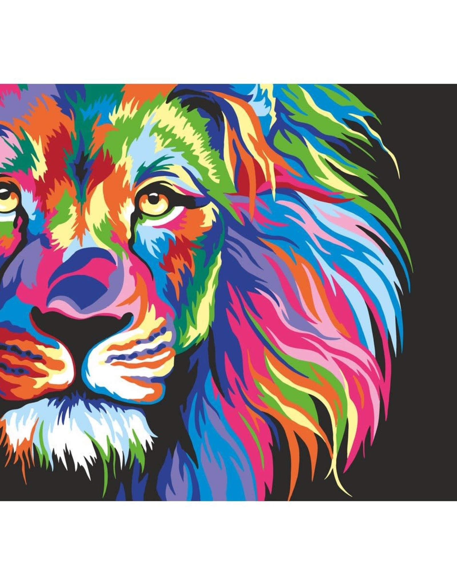 Artwille Artwille™ Paint By Number Neon Lion