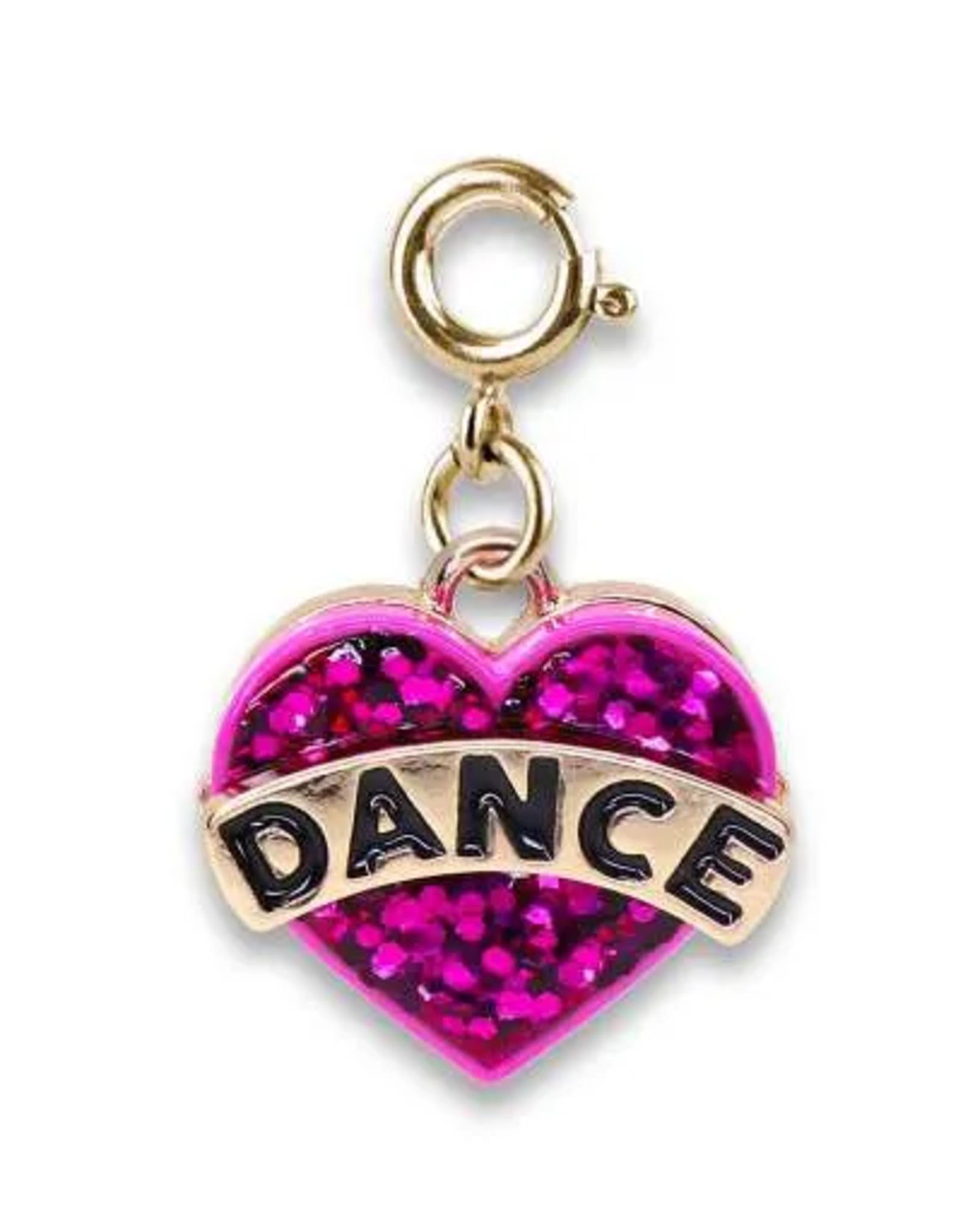 CHARM IT! Gold Glitter Dance Heart Charm