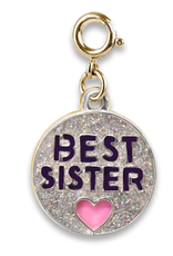 CHARM IT! Gold Glitter Best Sister Charm