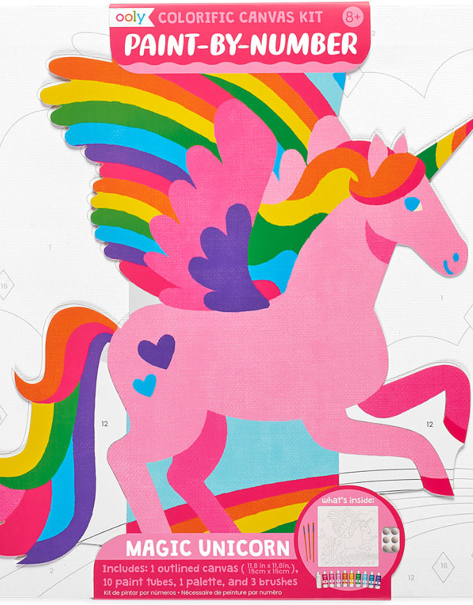 Ooly Colorific Canvas Kit Paint by Number - Magic Unicorn