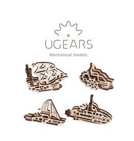 UGears U-Fidget Ships (4pcs)
