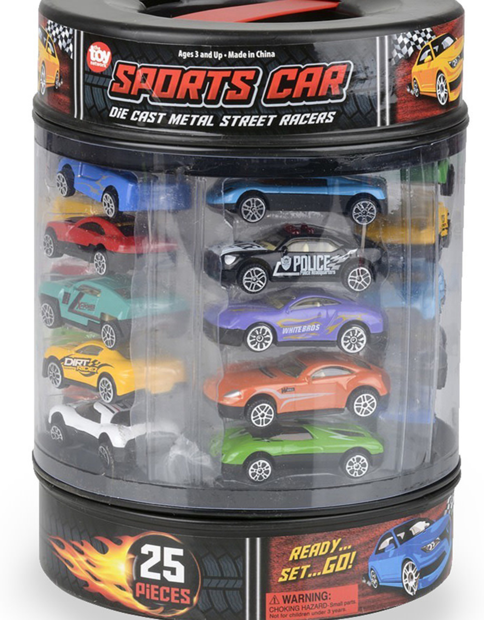 The Toy Network Die-Cast Car Set In Tire Carrying Tub - 25 pc
