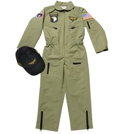 Aeromax Jr. Fighter Pilot Suit w/Embroidered Cap, size 4/6