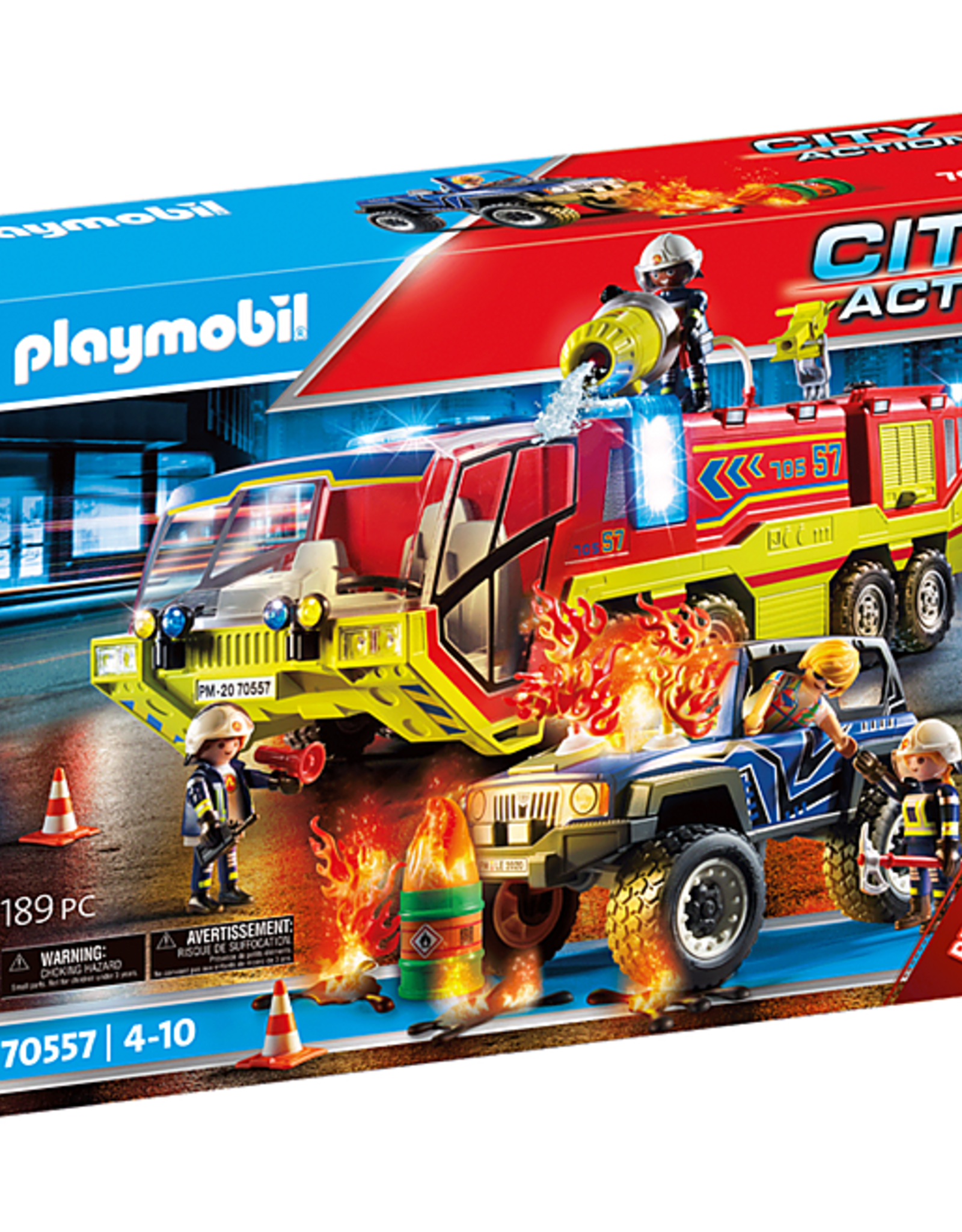 City Action Fire Engine with Truck