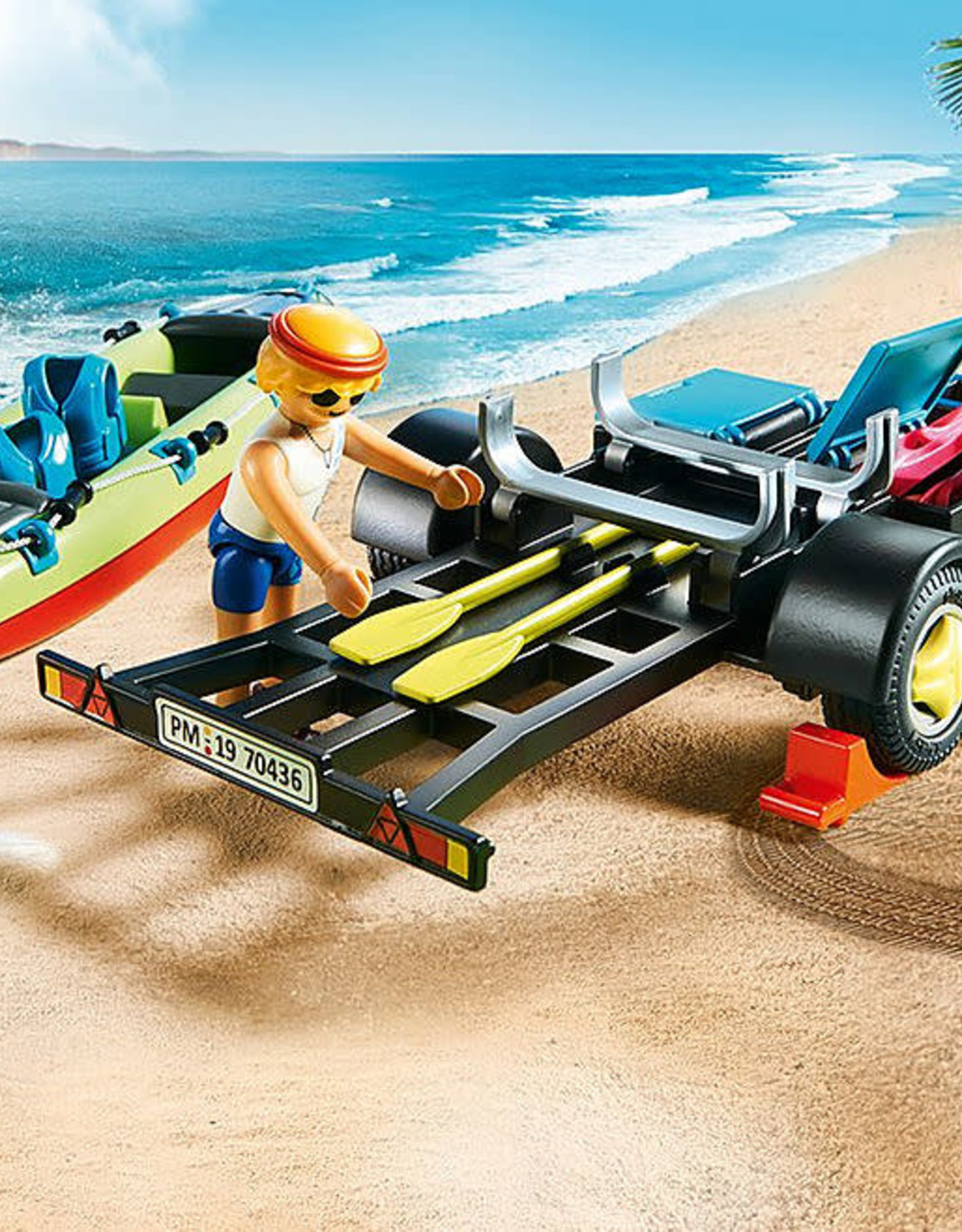 Family Fun Beach Car with Canoe