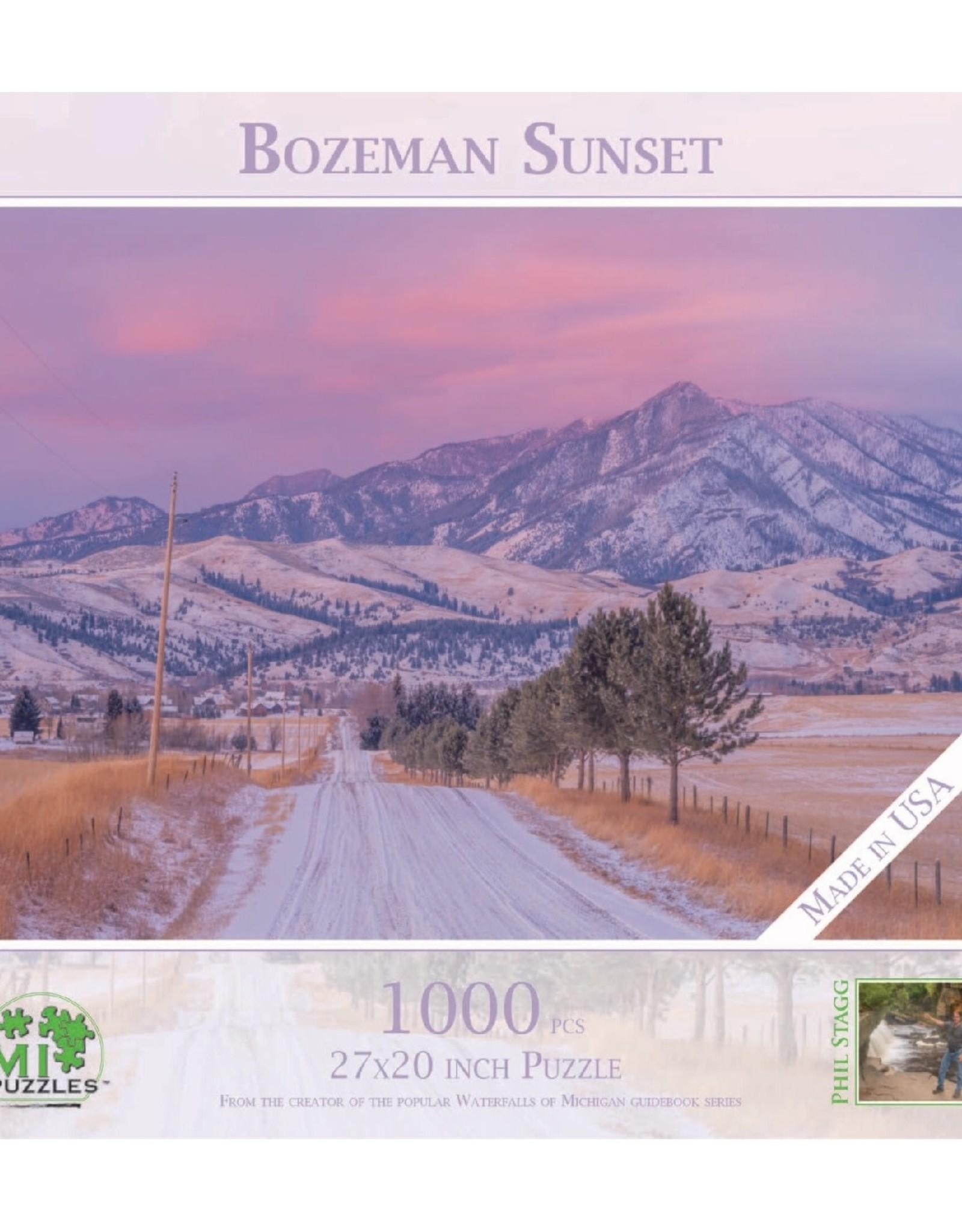 MI Puzzles Bozeman Sunset  1000 pc