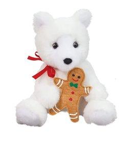 Douglas Toys Sweety Polar Bear with Gingerbread
