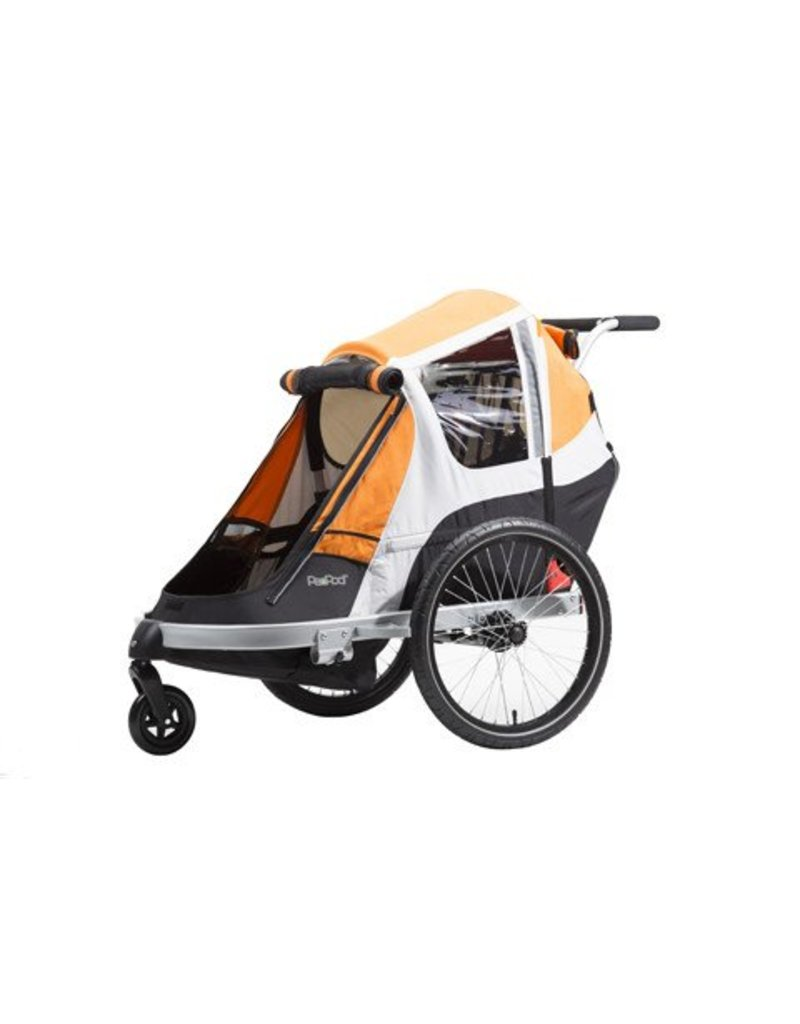 PeaPod Giant PeaPod Child Trailer Orange - 2019 W/ Jogger Attachment