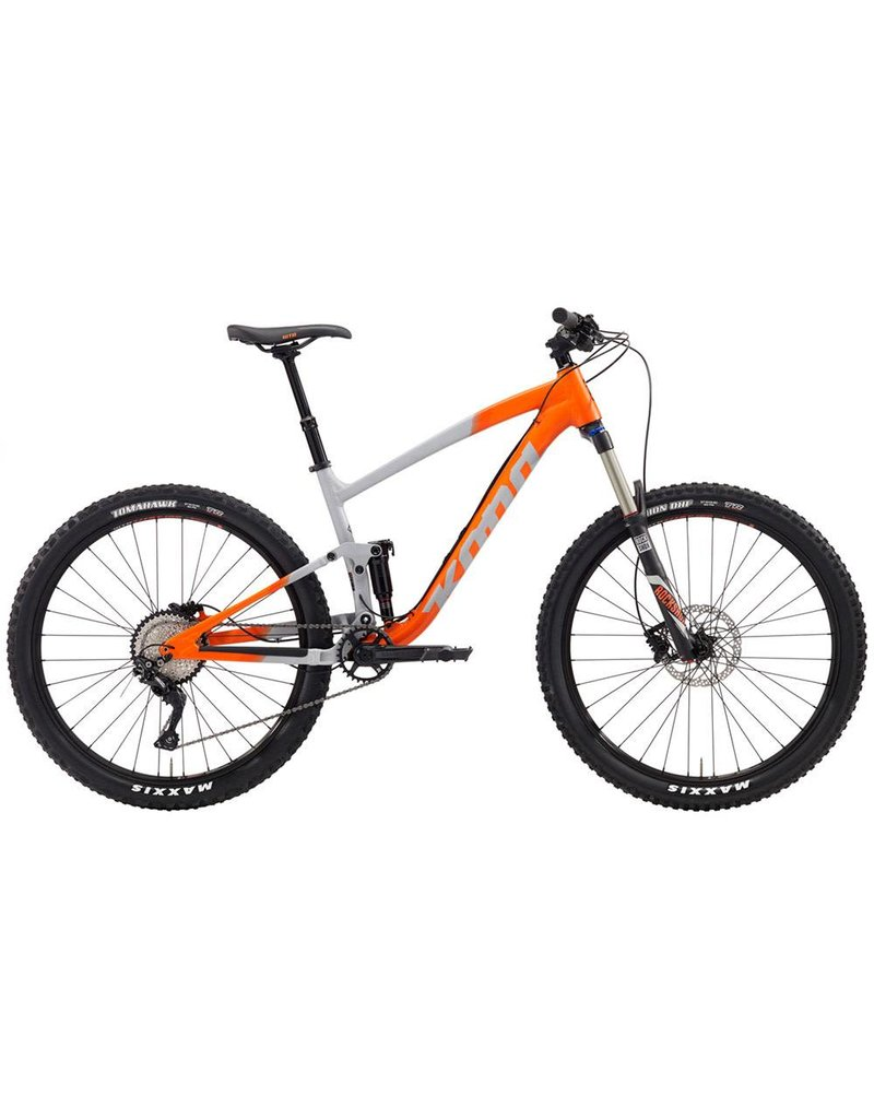 Kona Kona Hei Hei Trail AL 27.5 LG 2019 Matte Gray/Hot Orange