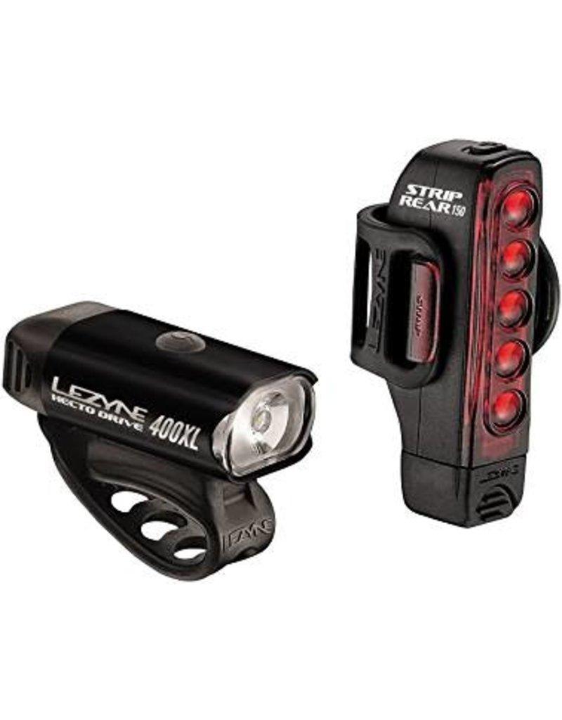Lezyne Hecto 400XL Headlight and Taillight: Black