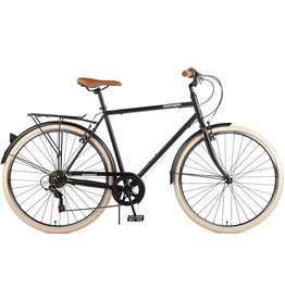Retrospec Retrospec Beaumont City Mens 54cm Matte Black W/Rides 2 yr