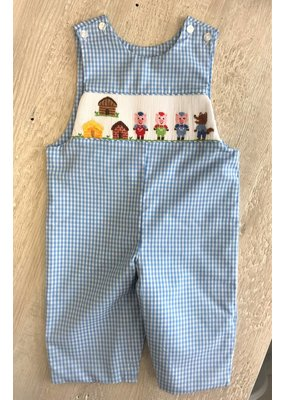 Anavini Anavini Three Little Pigs Smocked Coverall