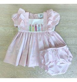 Proper Peony Proper Peony Birthday Dress w/ Bloomers Set