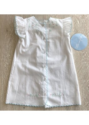 Little English Little English Blue Floral Embroidered Daygown