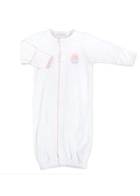 Magnolia Baby Magnolia Baby Pink Embroidered Noah's Friends