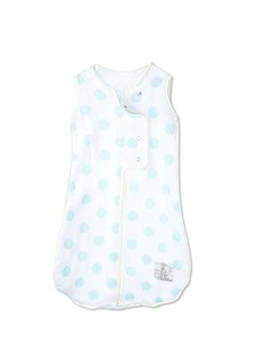 Little Giraffe Little Giraffe Muslin Blue Dot Dream Sack