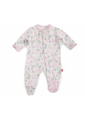 Magnetic Baby Magnetic Me Pink Enchanted Forest Footie