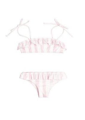 Minnow Swim Minnow Swim Pomelo Pink Stripe Bandeau Bikini