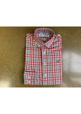 Southern Point Southern Point Red Plaid Hadley Button Up Shirt
