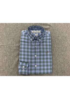 Southern Point Southern Point Blue Plaid Hadley Button Up Shirt
