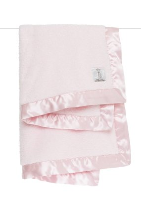 Little Giraffe Little Giraffe Pink Satin Chenille Blanket