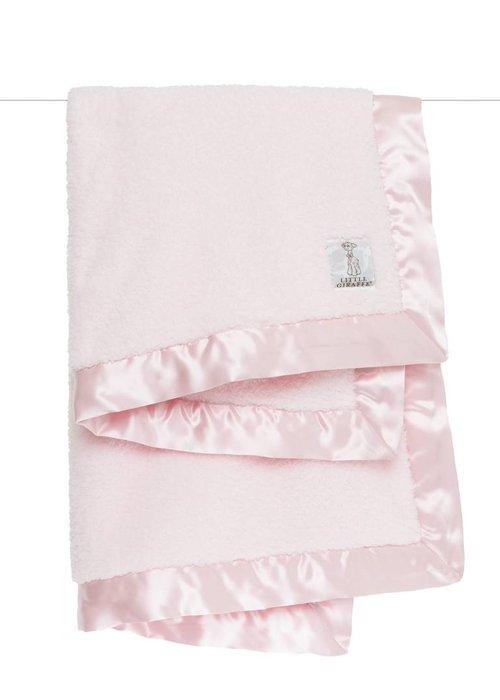 Little Giraffe Little Giraffe Pink Satin Chenille Blanket