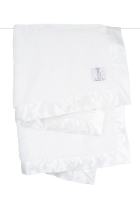 Little Giraffe Little Giraffe White Satin Chenille Blanket