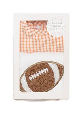 3 Marthas Orange Football Bib and Burp Box