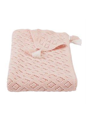 Mudpie Pink Pointelle Blanket