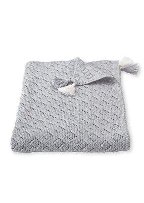 Mudpie Gray Pointelle Blanket