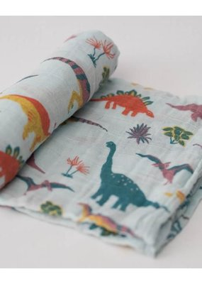 Little Unicorn Little Unicorn Embroidosaurus Cotton Swaddle Single