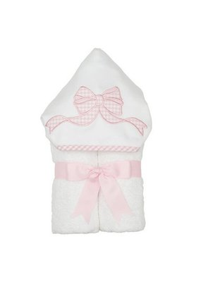 3 Marthas 3 Marthas Pink Bow Hooded Towel