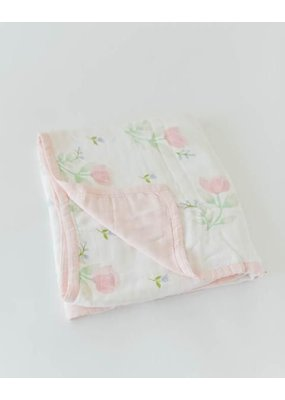 Little Unicorn Little Unicorn Pink Peony Deluxe Muslin Quilt