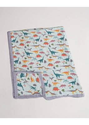 Little Unicorn Little Unicorn Embroidosaurus Big Kid Cotton Muslin Quilt